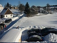 Parkoviště v zimě